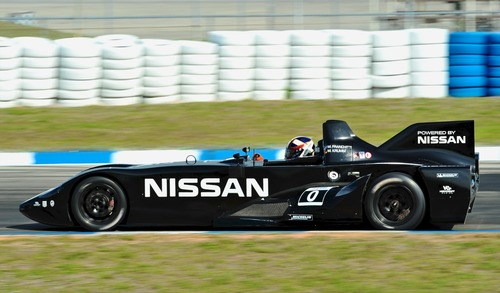 The Nissan DeltaWing during testing at Sebring
