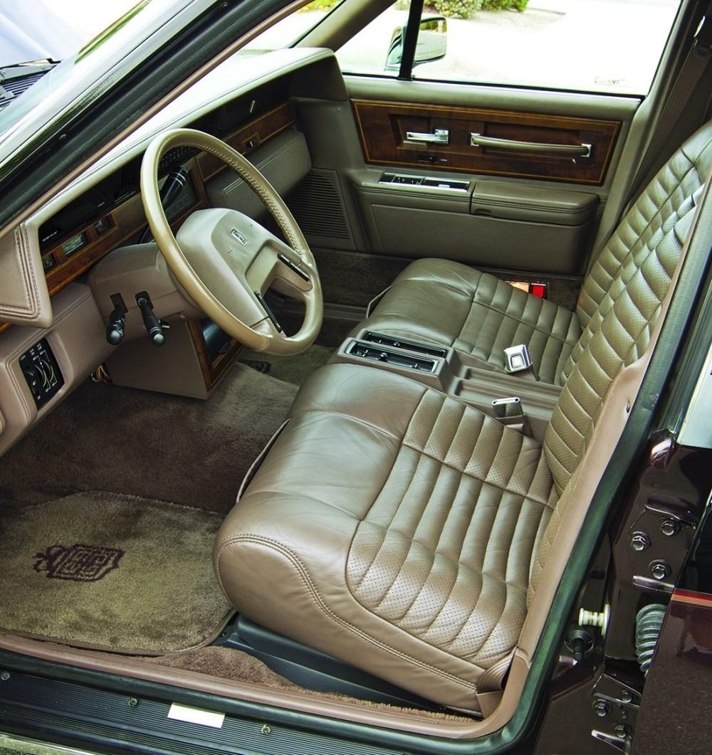 The interior. It's brown.