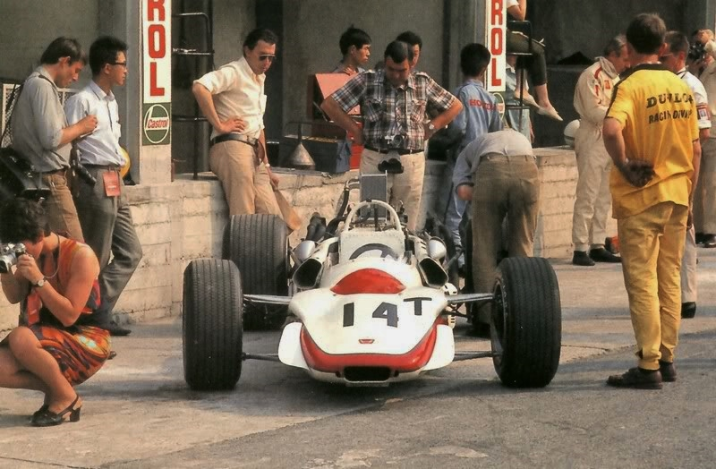 The second RA302 remained a T-Car, 1968 Italian Grand Prix.
