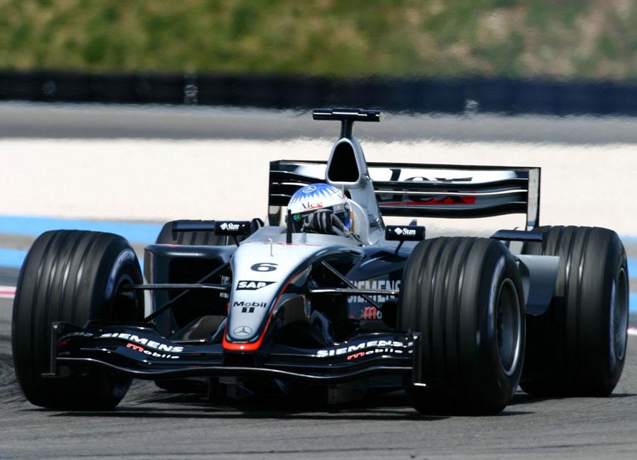 Wurz testings the car at Paul Ricard
