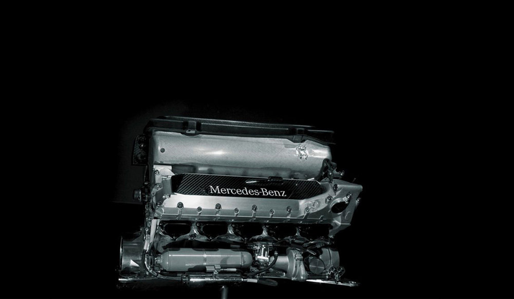 The V10 Mercedes FO110M, which was later being developed into the FO110P