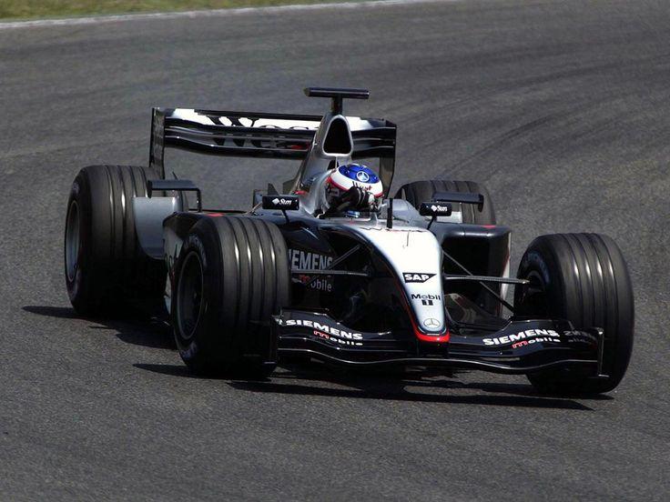 Raikkonen testings the car before the huge shunt at Catalunya