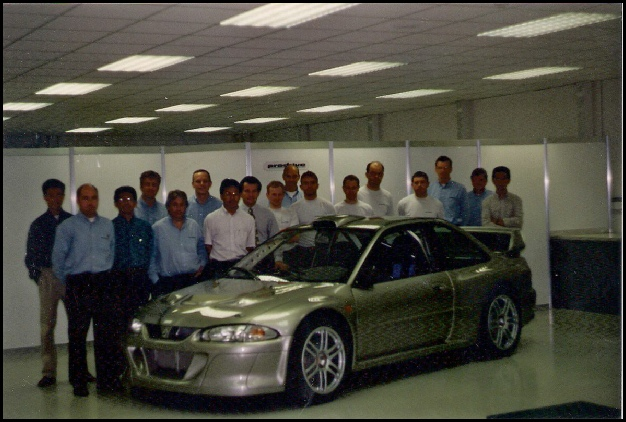 The Prodrive team and their creation.