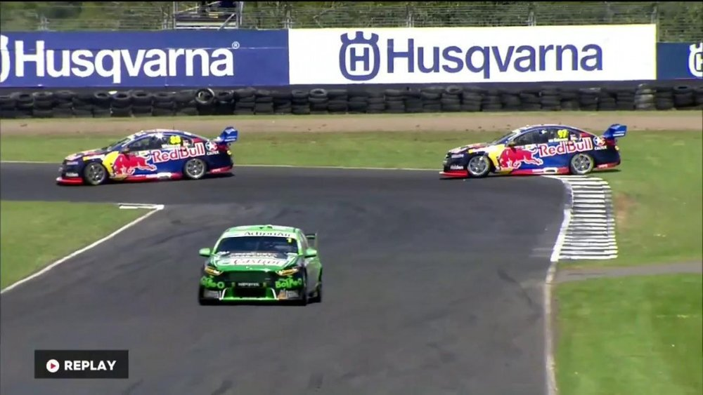 In a moment that people had been expecting all year, Whincup spun van Gisbergen, allowing Mark Winterbottom to take a 10 second victory. Van Gisbergen recovered to third