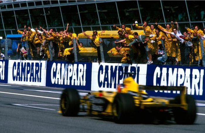 Frentzen capturing his 2nd win of the season in Monza