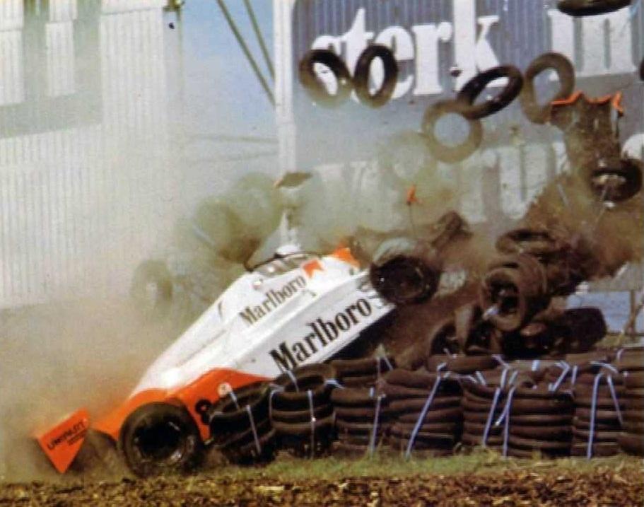 Andrea de Cesaris' massive shunt at Zandvoort, 1981.