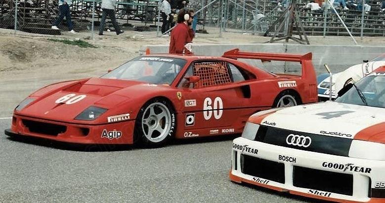 Jean Alesi's F40 LM, Laguna seca 1989.