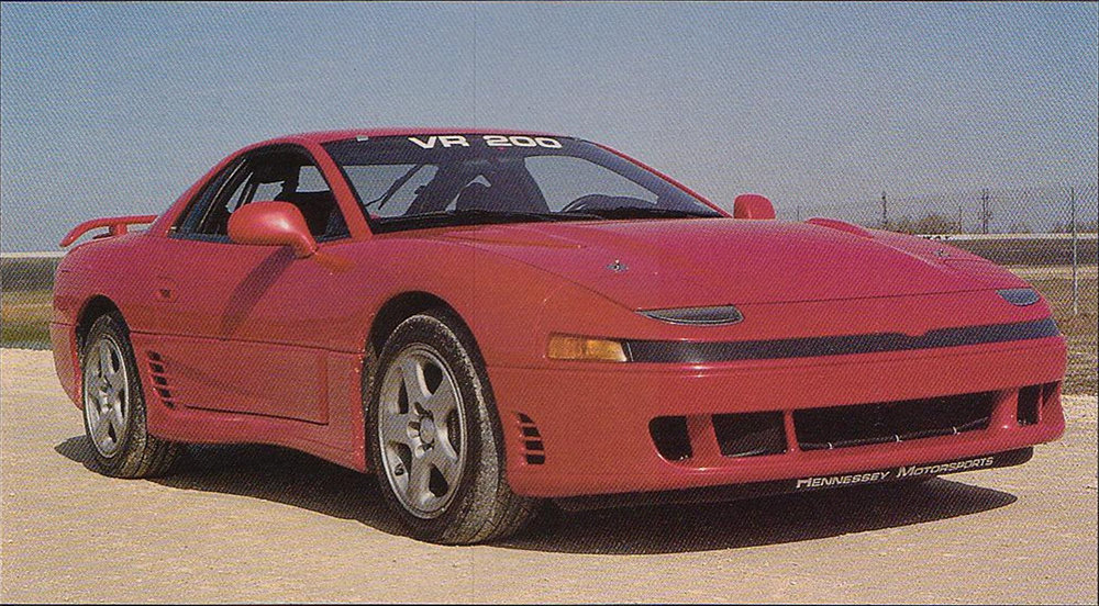 The Hennessey Mitsubishi 3000GT VR-200, equipped with high flow twin turbos, it developed 450 bhp.