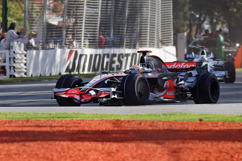 Hamilton on his way to victory at Albert Park