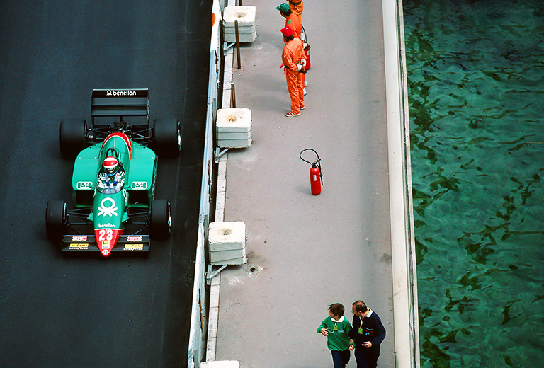 Eddie Cheever, 1985 Monaco Grand Prix.