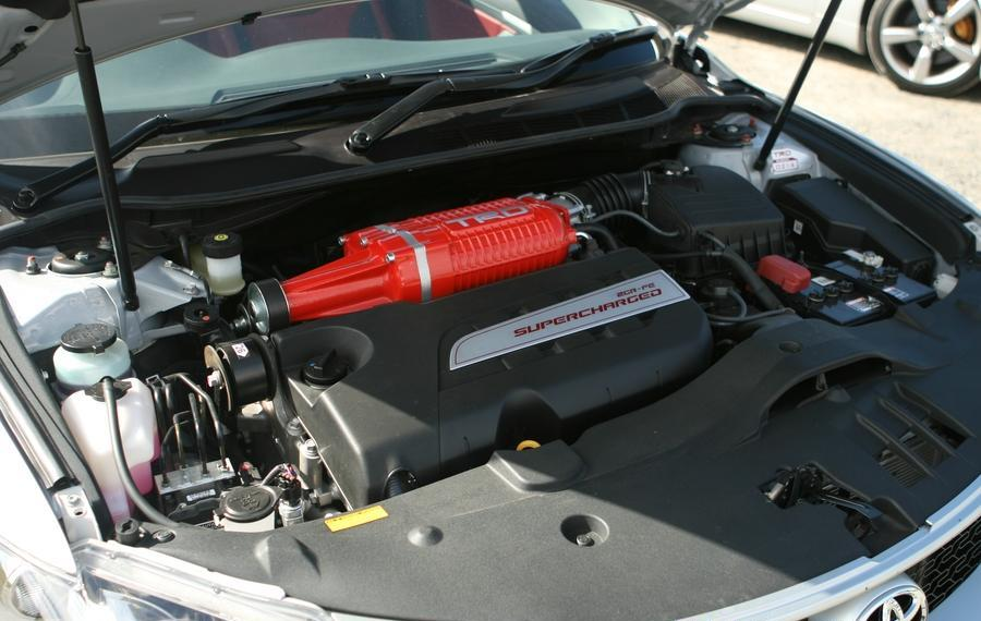 The supercharged V6 engine