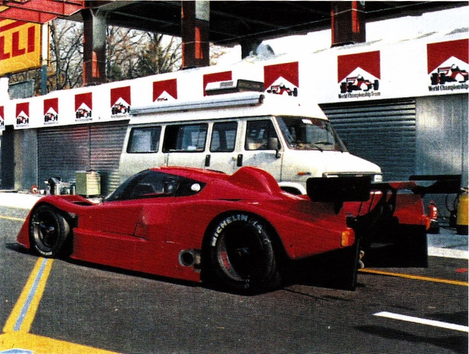 The LC2-based Abarth SE047 V10 test mule.
