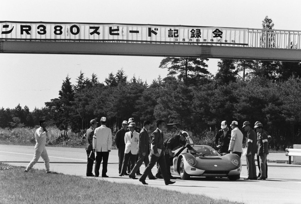 The R380-II at Yatabe Test Track, 1967.