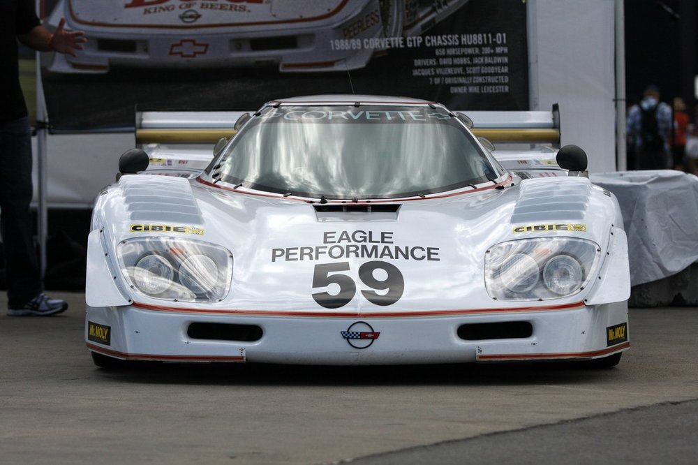 The car is currently back in the States, retrofitted with the original 6L Chevrolet V8 for use in historic racing.
