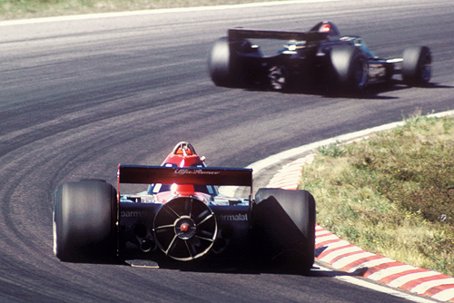 Lauda chasing down Andretti, Anderstorp 1978.