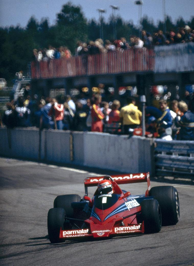 Niki Lauda racing in solitude, Anderstorp 1978.