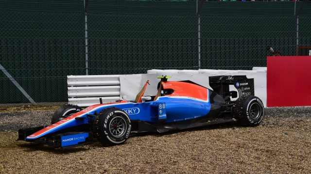 Haryanto's retirement at Silverstone pretty much summing up his season at Manor