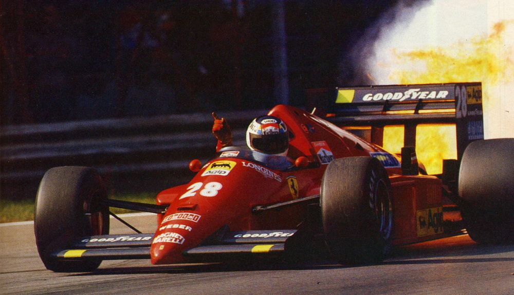 Stefan Johansson (SWE) in the F1/86 helpfully demonstrating Scuderia Ferrari's abject misery during the turbo era.