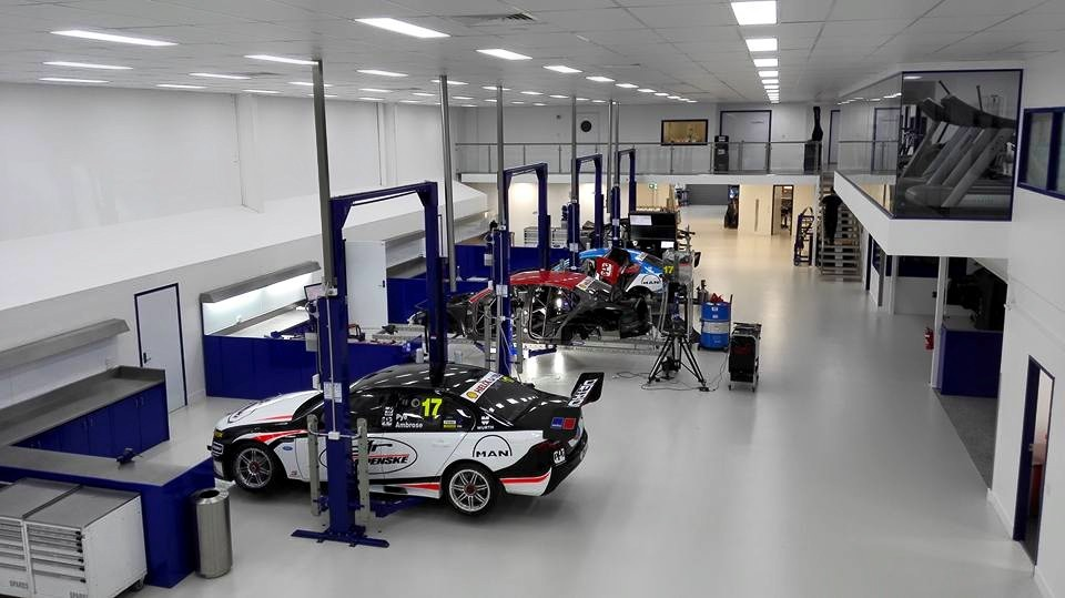 DJR Team Penske's workshop in 2015