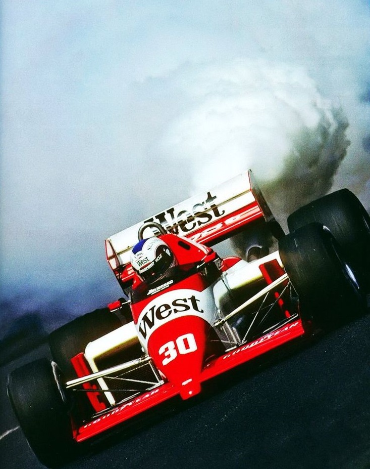 Zakspeed's turbocharged ventures usually ended in disaster. Jonathan Palmer, Zakspeed 861.