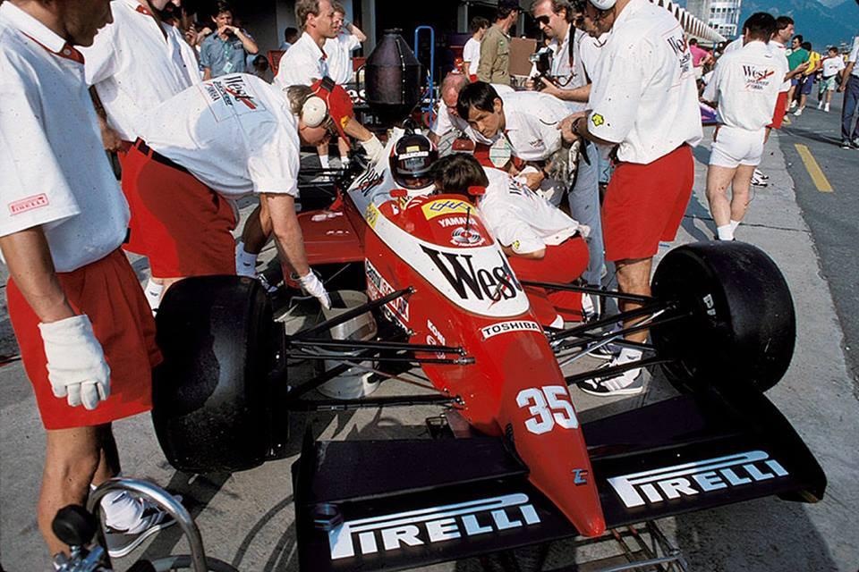 Aguri Suzuki, Jacarepaguá, 1989 Brazilian Grand Prix.