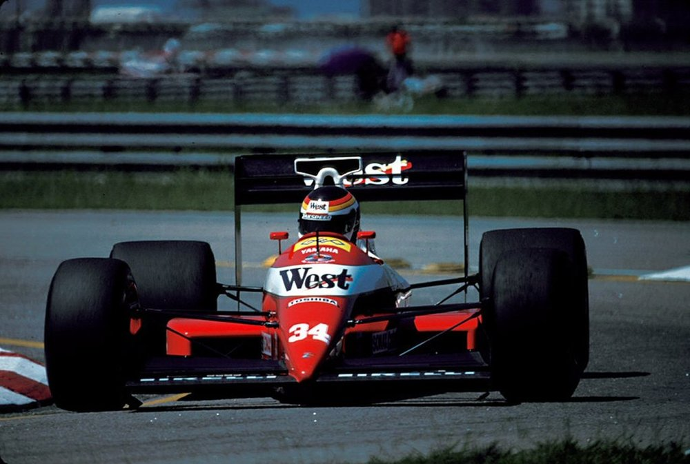 Bernd Schneider dragging the 891 to 25th on the grid, Jacarapaguá, 1989 Brazilian Grand Prix.