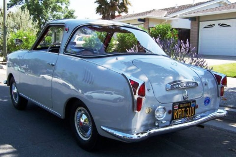 The Goggomobil coupe was a fibreglass replica of its German counterpart