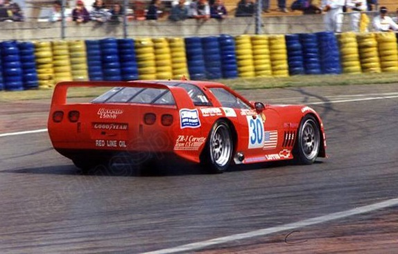 The Corvette was a unique sight on the French track, Le Mans 1995.