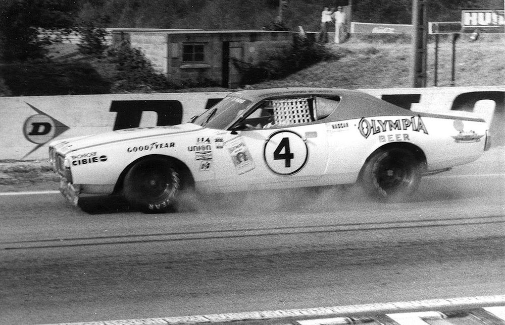"The 1972 ""Olympia"" Dodge Charger NASCAR was one of four US-machines invited in 1976."