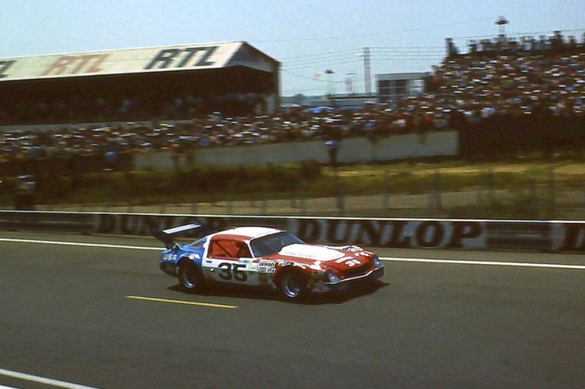 The doomed 1979 Stratagraph Camaro at Le Mans, 1981.