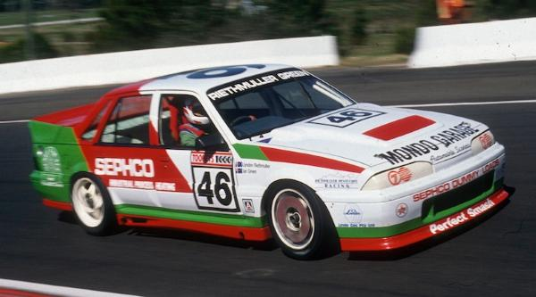 Lyndon Reithmuller in an ex-factory Commodore at Bathurst, 1989