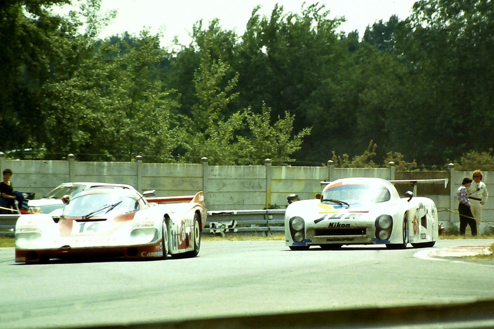 Coming face to face with the mighty Porsche 956, Le Mans 1983.