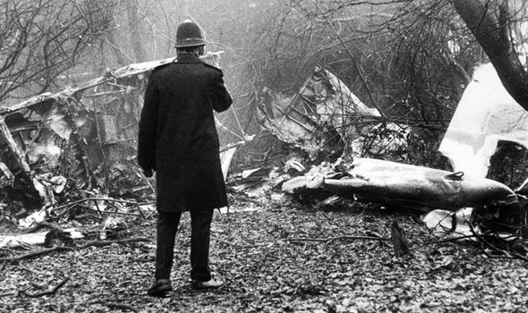 The scenes of Embassy Hill's Piper Aztec plane crash