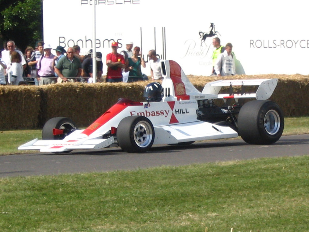 The Hill GH2 driven by Graham's son, Damon Hill at Goodwood