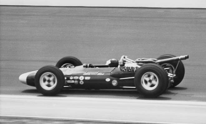 The Lotus 34 failed to clinch the first mid-engine victory.