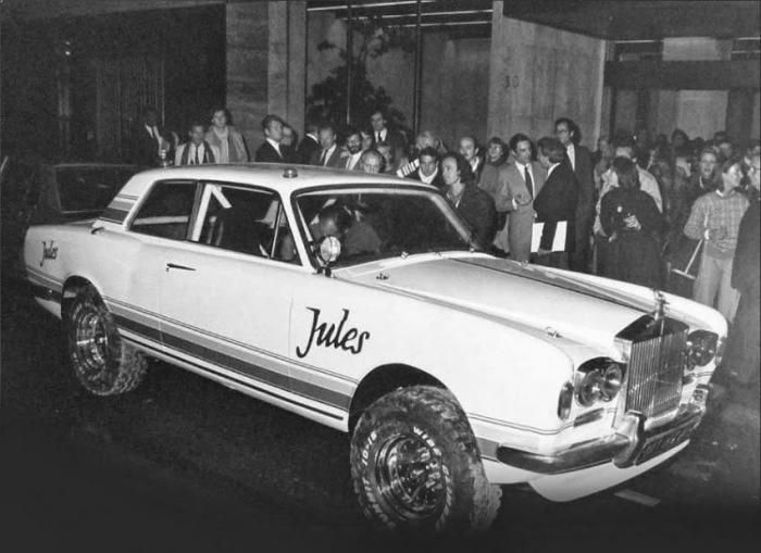 The first Jules was a Rolls-Royce Corniche-bodied prototype.