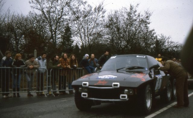 Jules II travelling through France on the first leg of the rally, 1984.