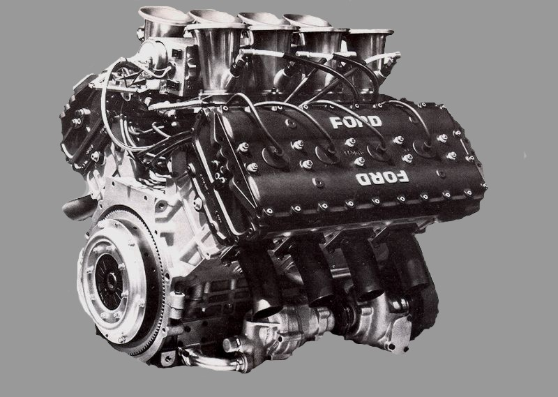 The legendary Cosworth DFV V8.