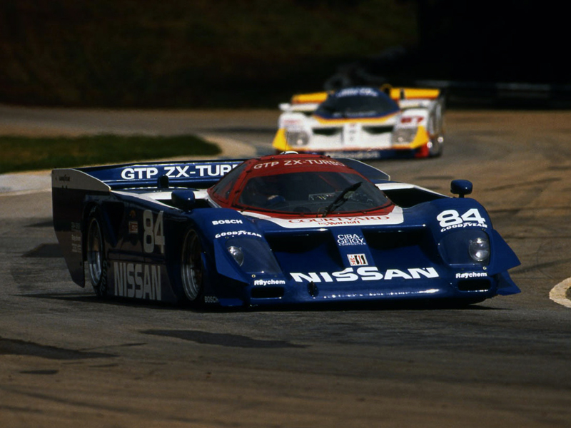 The Nissan GTP ZX-Turbo quickly took charge in IMSA GT.
