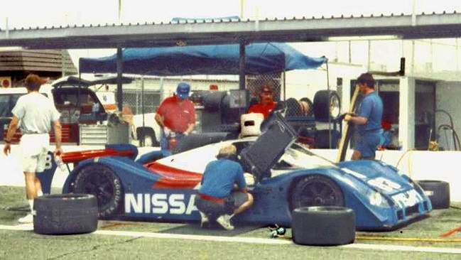 The P35 during testing. Note the low drag wing arrangement.
