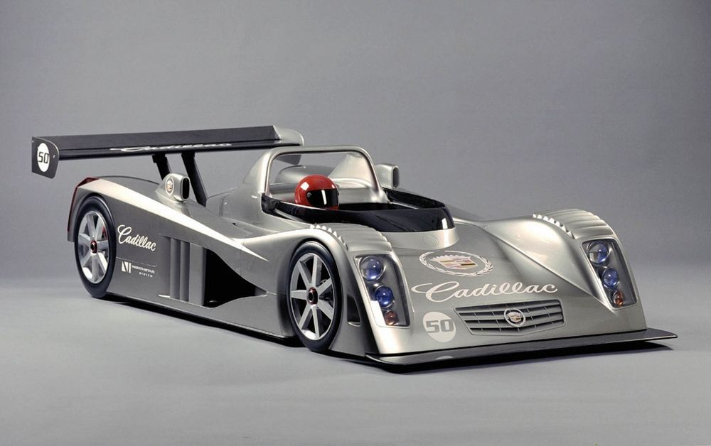 A mock-up of the Northstar LMP celebrating 50 years since Cadillac's Le Mans debut.