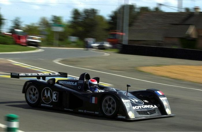 Eric Bernard's car was the fastest Cadillac around, Le Mans 2000.
