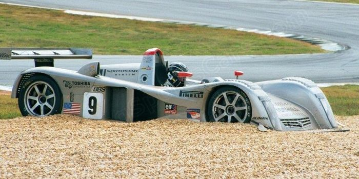 Butch Leitzinger contemplating his sins, Petit Le Mans 2000.
