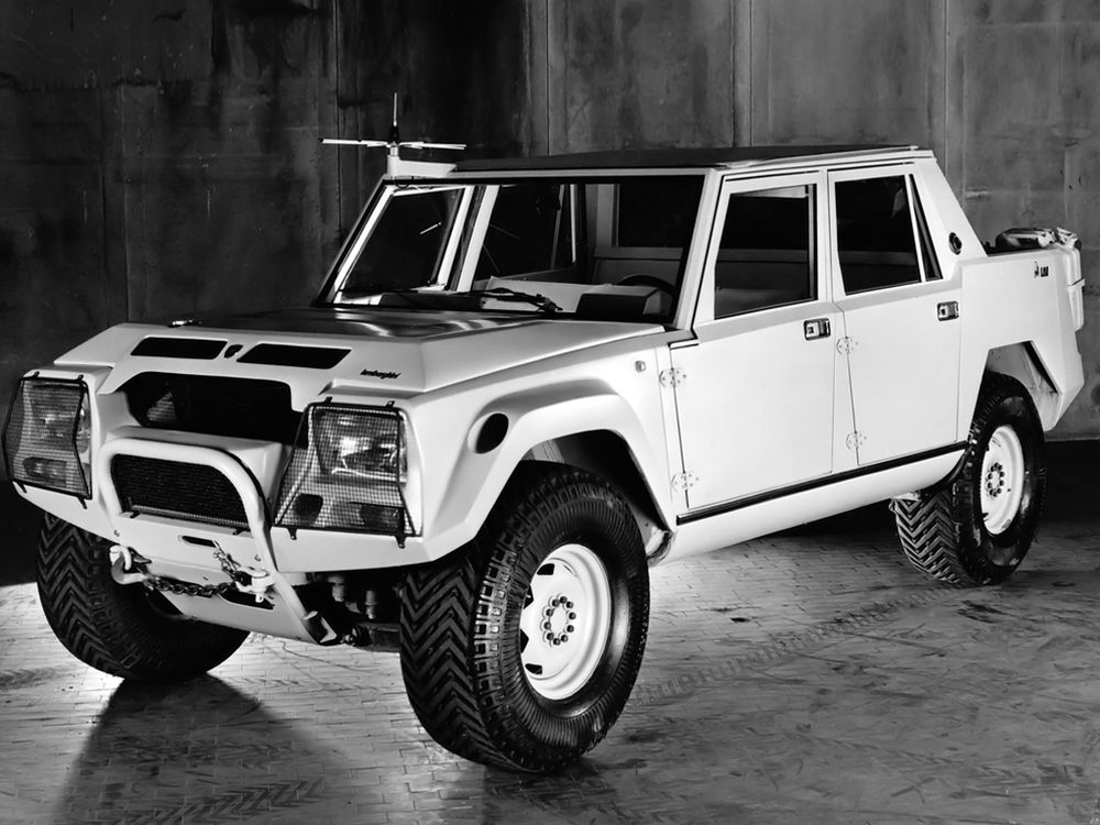 The LMA002 was the first step towards a road going Lamborghini SUV.