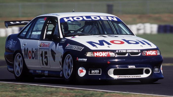Craig Lowndes started with the Holden Racing Team in 1996 and won the championship  that year
