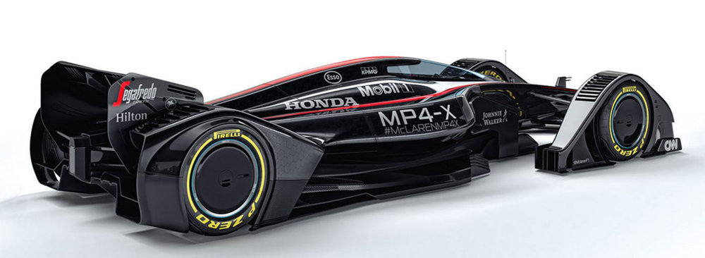 The MP4-X concept is more like a fighter jet on wheels.