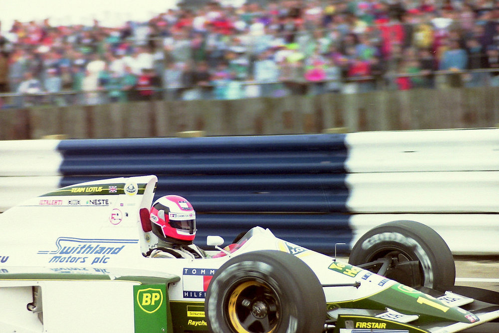 Johnny Herbert became the only man to have driven an Isuzu-powered F1 car.