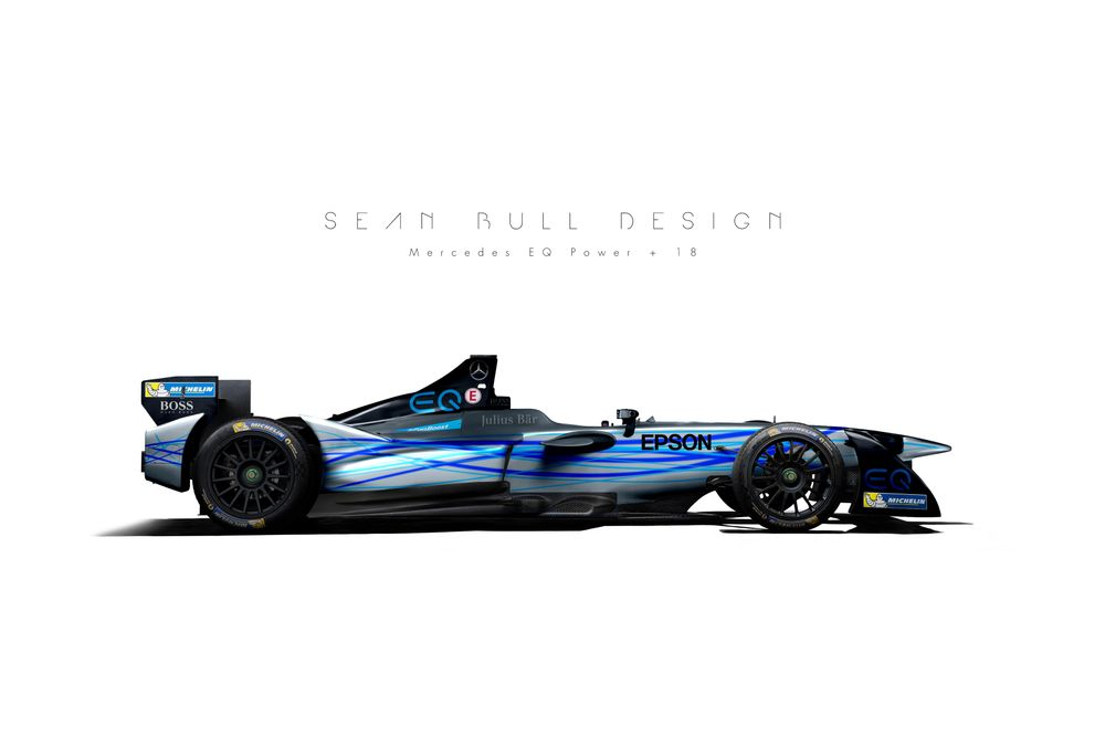 Mercedes's Formula E program might be a very interesting development (concept designs by Sean Bull)