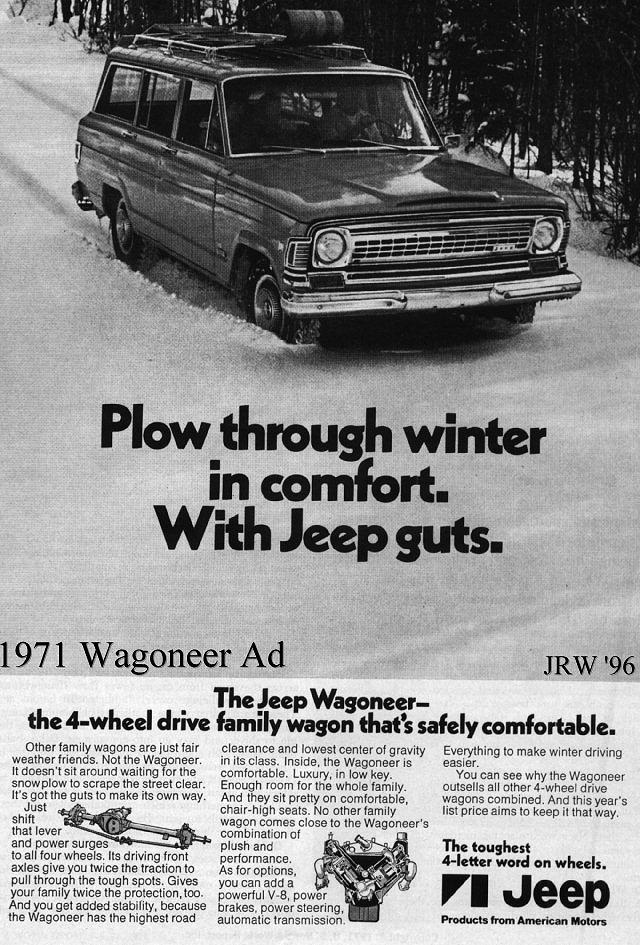 The Jeep Wagoneer was a very unlikely choice for a rally car.