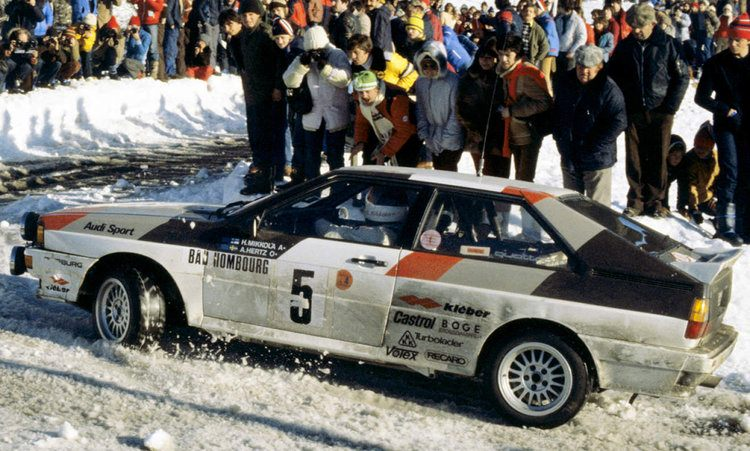 The Audi quattro gave the fledgling company its first big break in motorsport.
